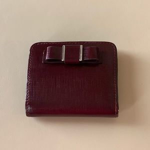 Coach Darcy Bow Wallet Maroon (GREAT CONDITION)